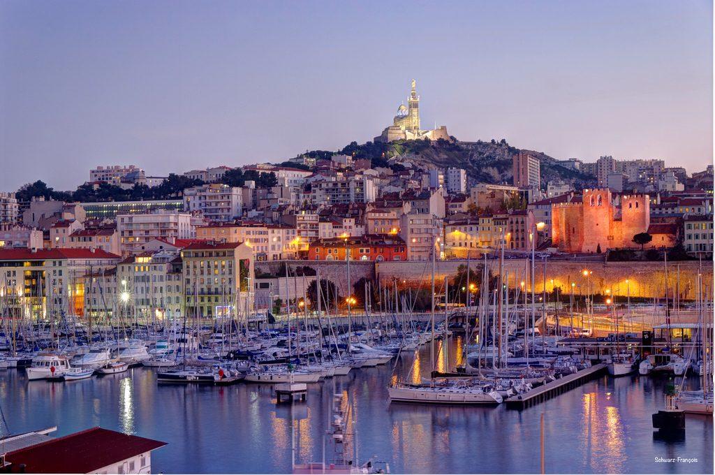 Küstenort Marseille, Côte d'Azur, Frankreich